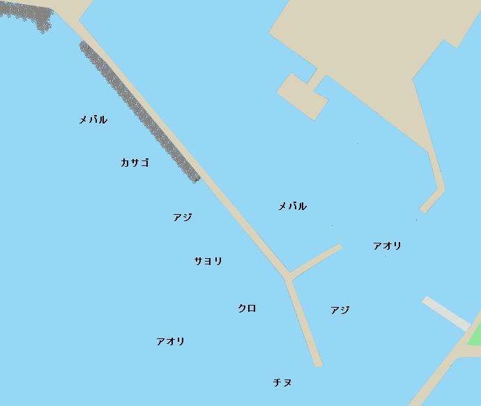 岬漁港ポイント図