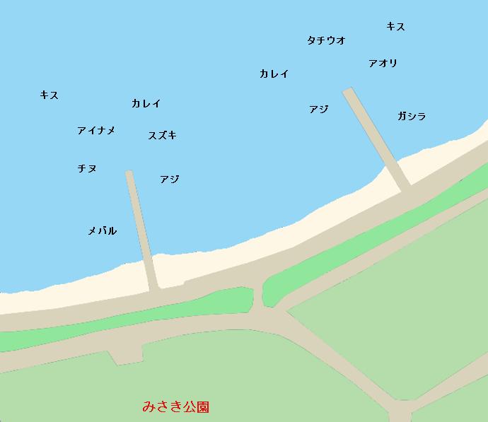みさき公園裏ポイント図