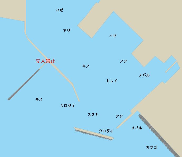 三谷漁港ポイント図