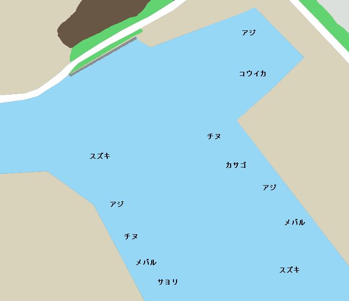 三田尻漁港ポイント図