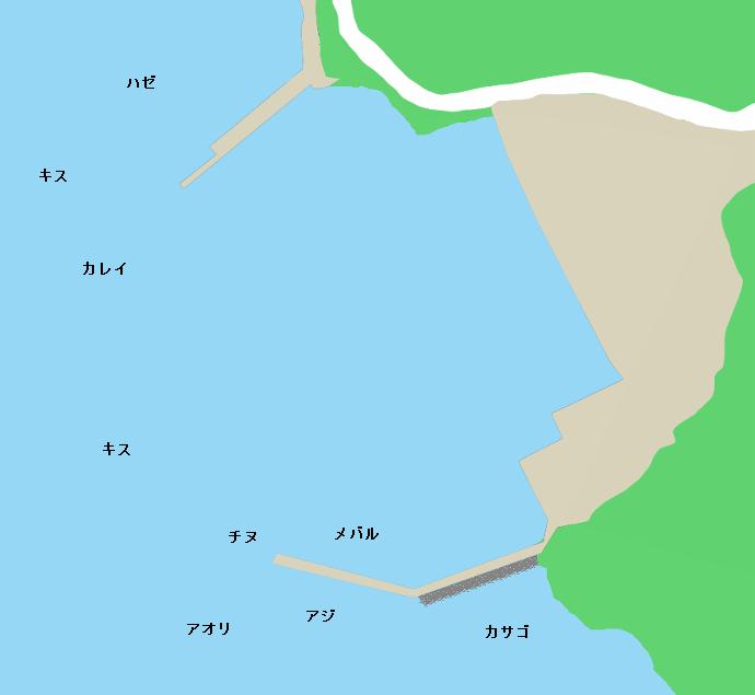 三浦漁港ポイント図