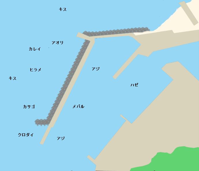 宮崎漁港ポイント図