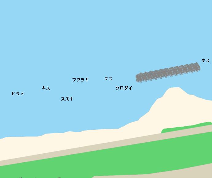 堺・宮崎海岸ポイント図