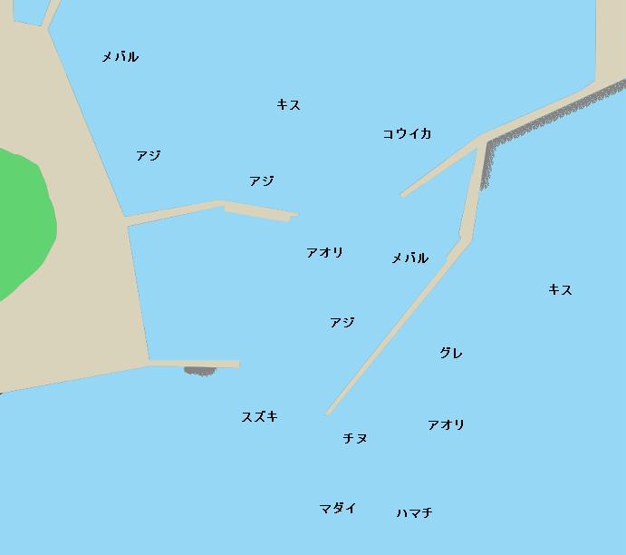 美保関港ポイント図