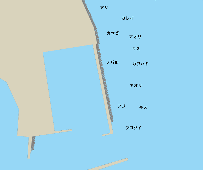 師崎新堤ポイント図
