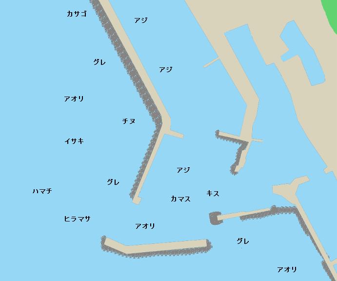 室戸岬漁港ポイント図