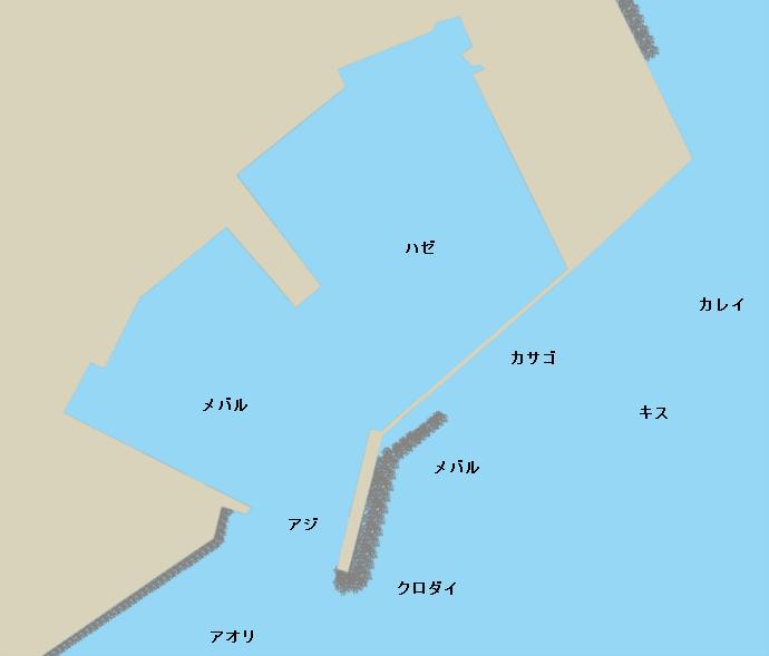 女良漁港ポイント図