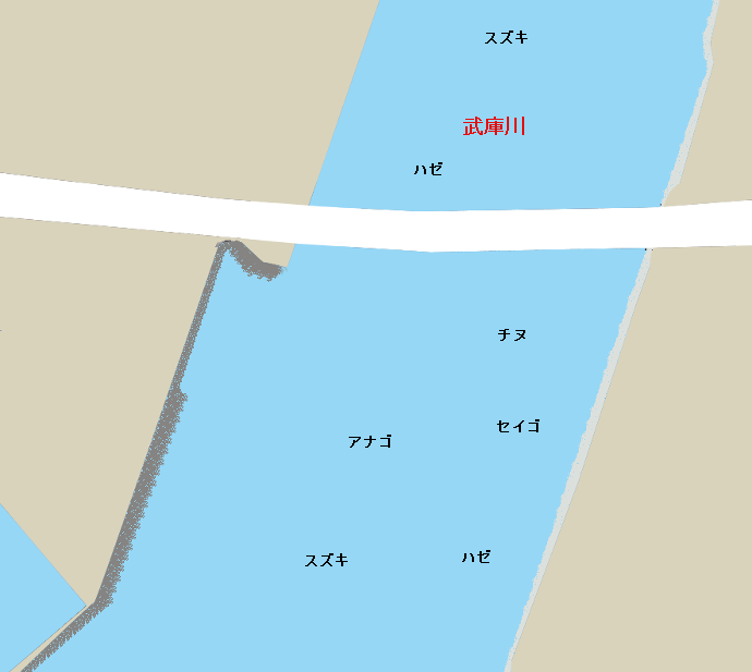 武庫川河口ポイント図