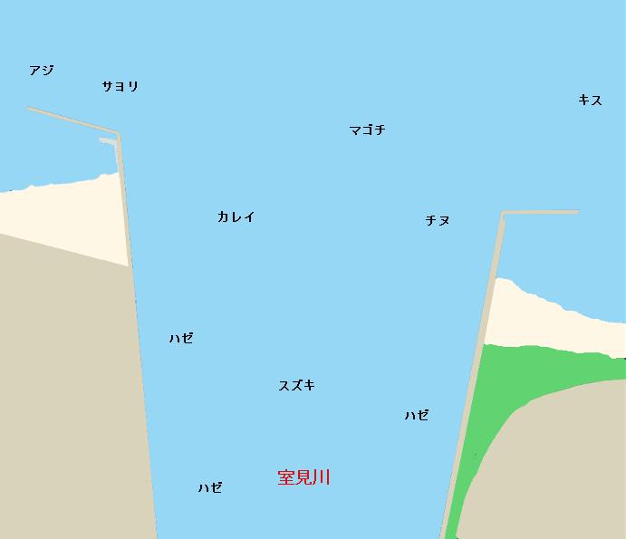 室見川河口ポイント図