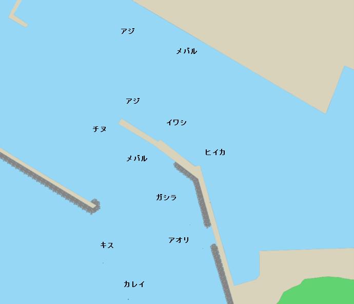室津漁港ポイント図