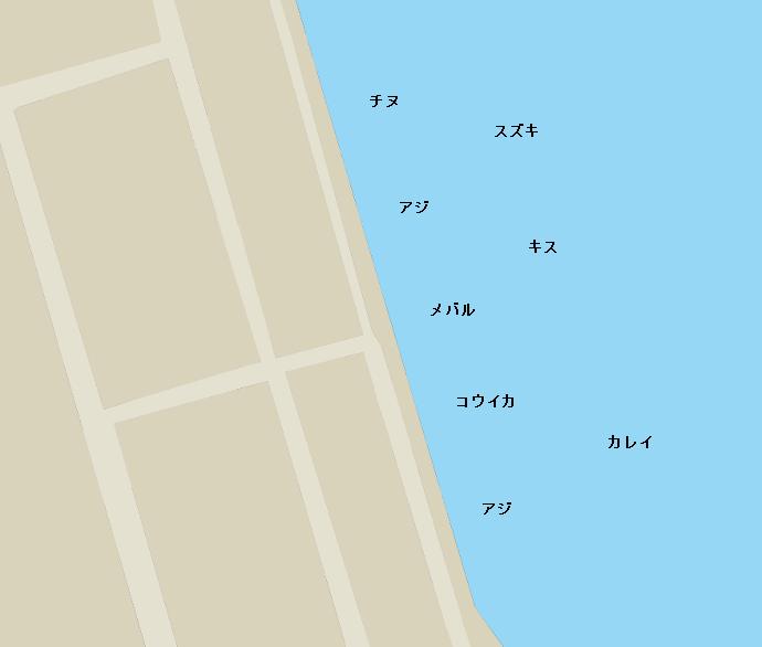 妙見埠頭ポイント図