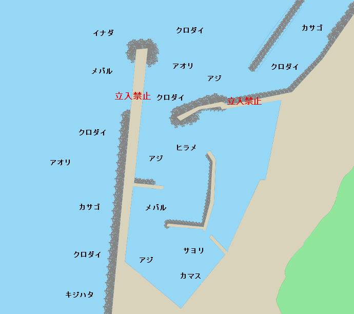 名立港ポイント図