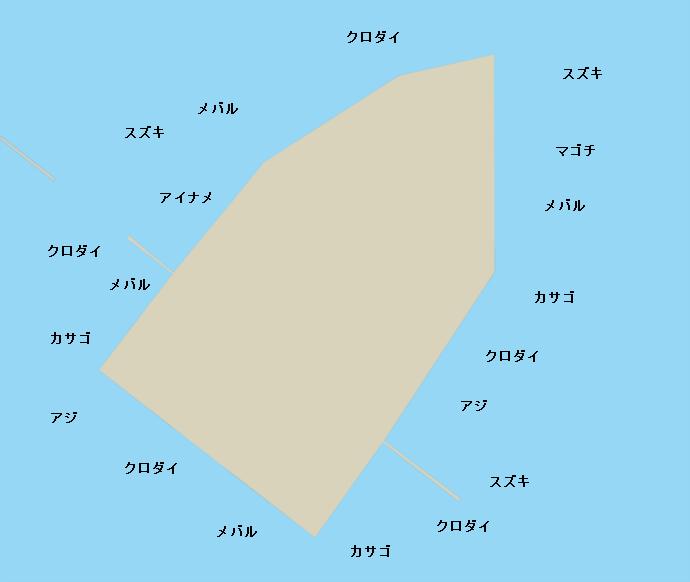 名古屋港中央堤ポイント図