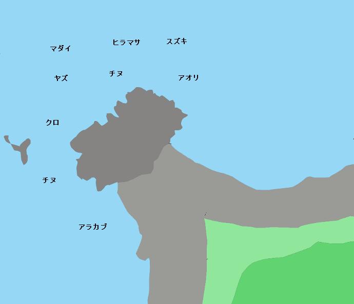 波戸岬ポイント図