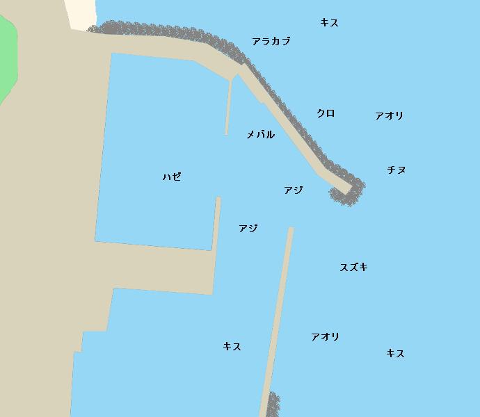 波津漁港ポイント図