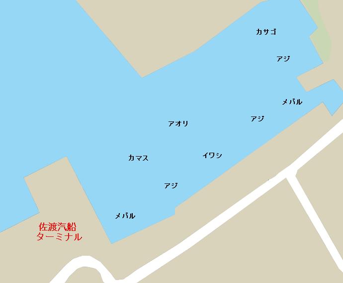 直江津港佐渡汽船乗り場付近のポイント