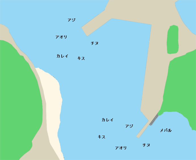 贄浦漁港ポイント図