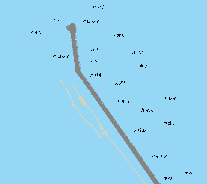 日本鋼管突堤ポイント図