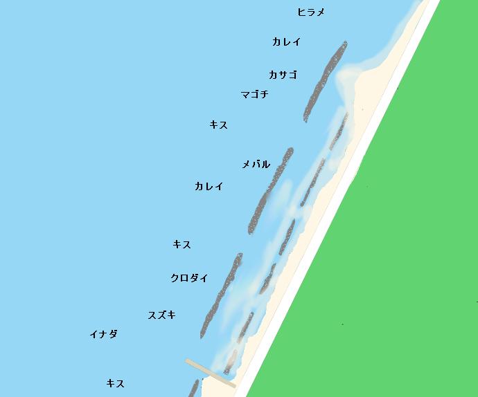 西の浜ポイント図