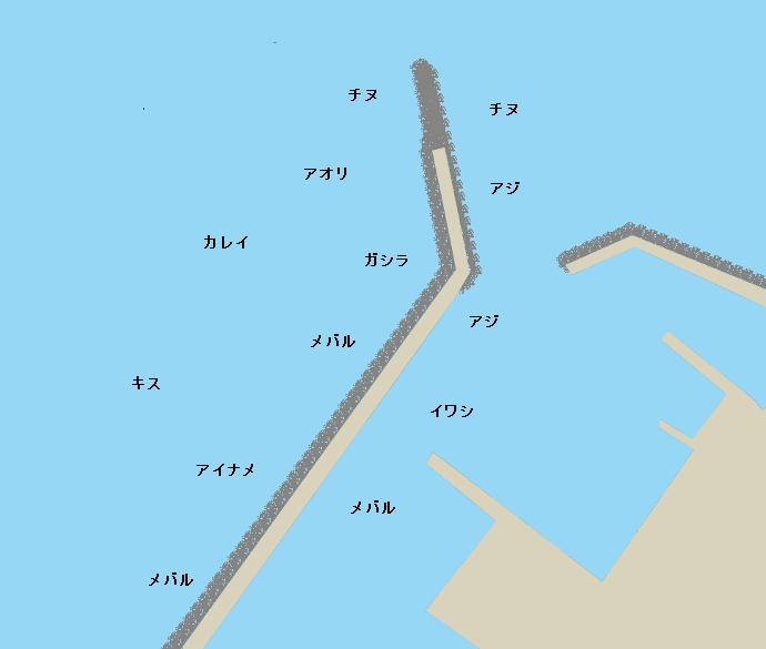 西鳥取漁港ポイント図