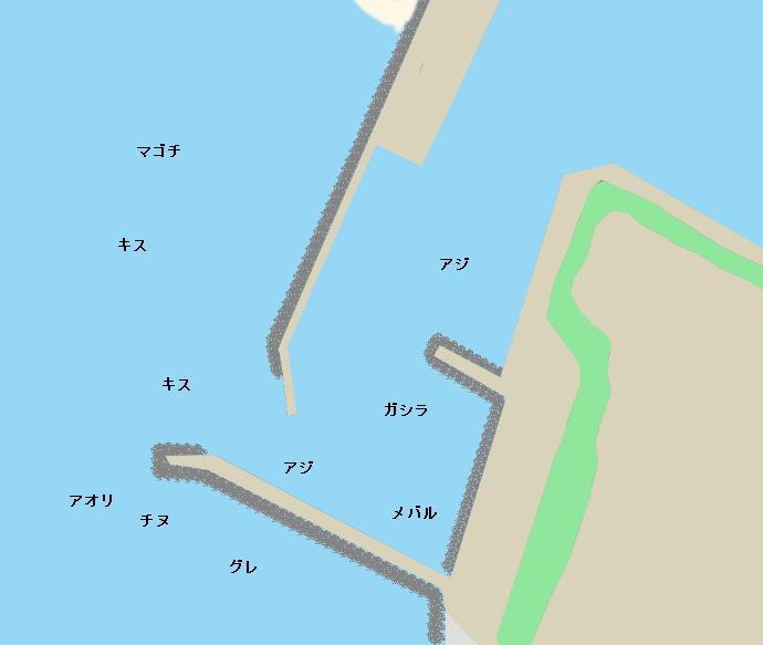 西脇漁港ポイント図