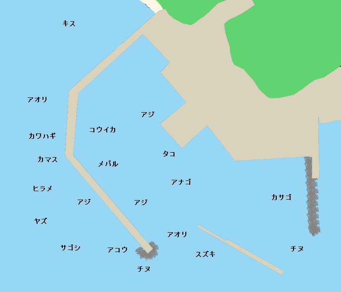 野北漁港ポイント図