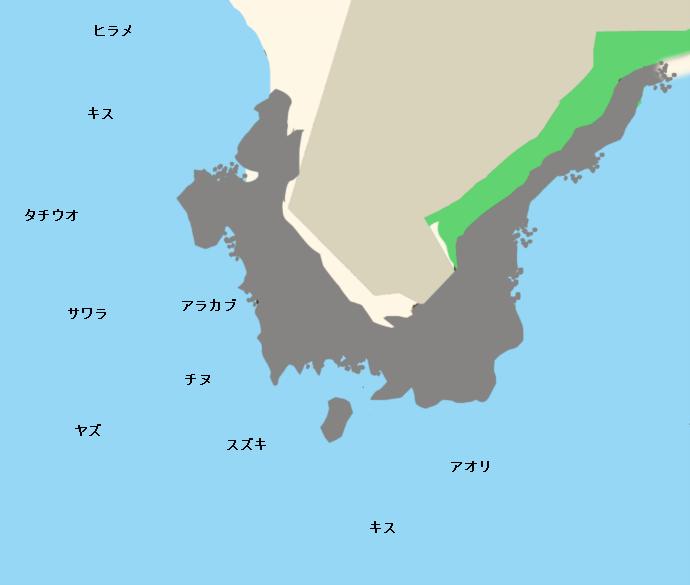 野辺崎ポイント図