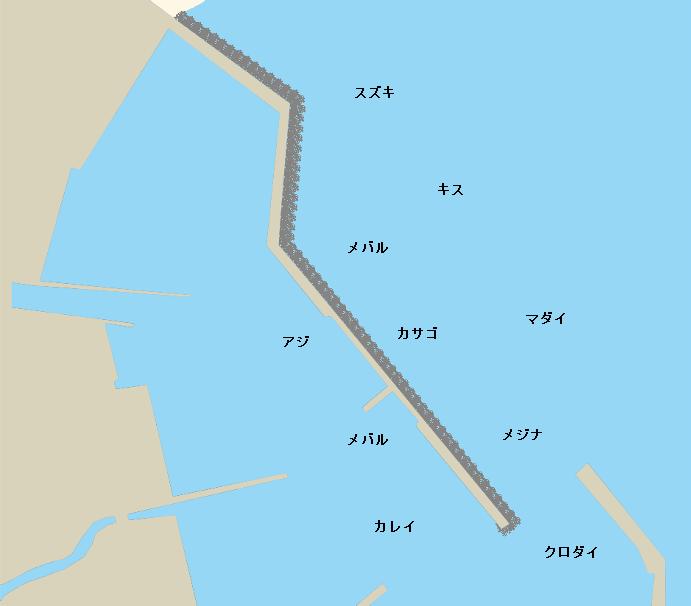 狼煙漁港ポイント図