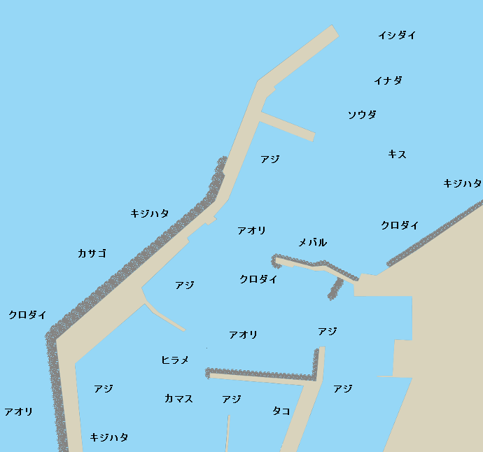 能生港ポイント図