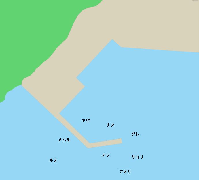 小川漁港ポイント図