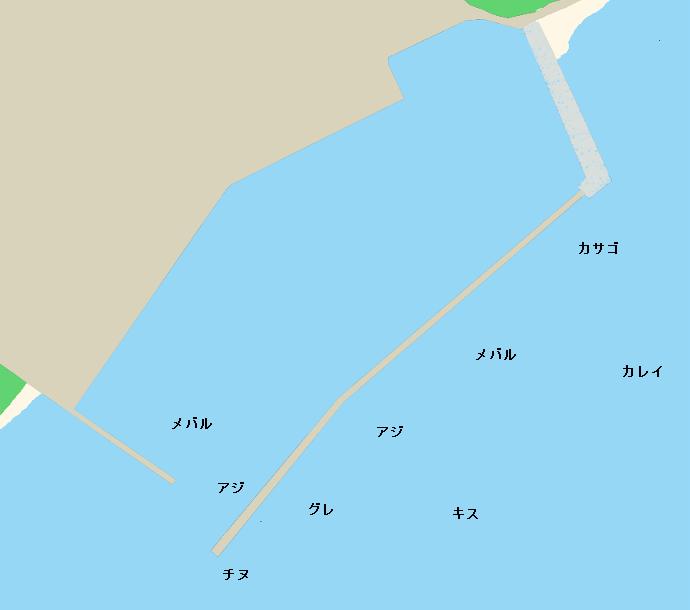 男木島男木漁港ポイント図