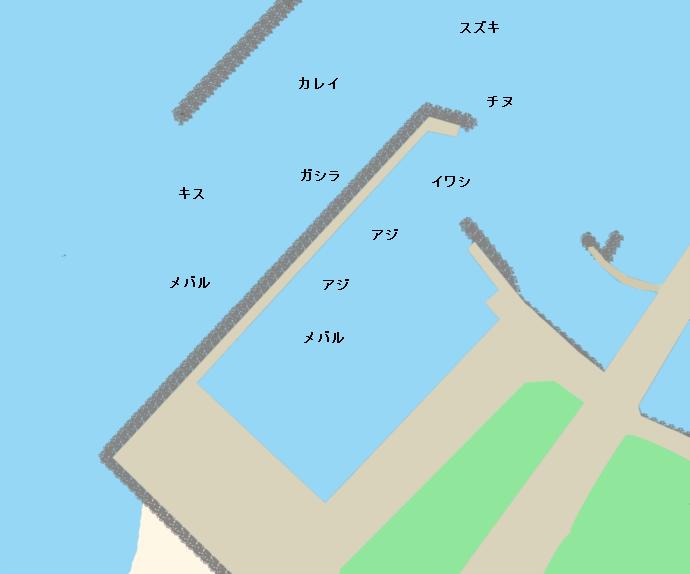 岡田浦漁港ポイント図