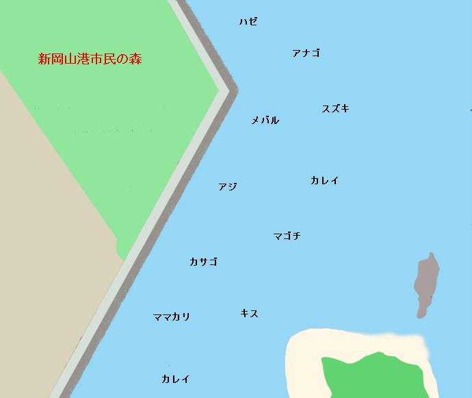 新岡山港ポイント図