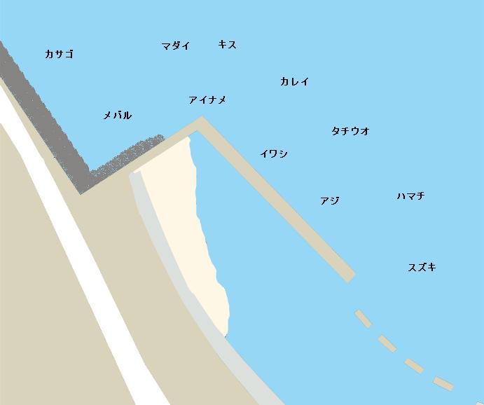 岡崎海岸ポイント図