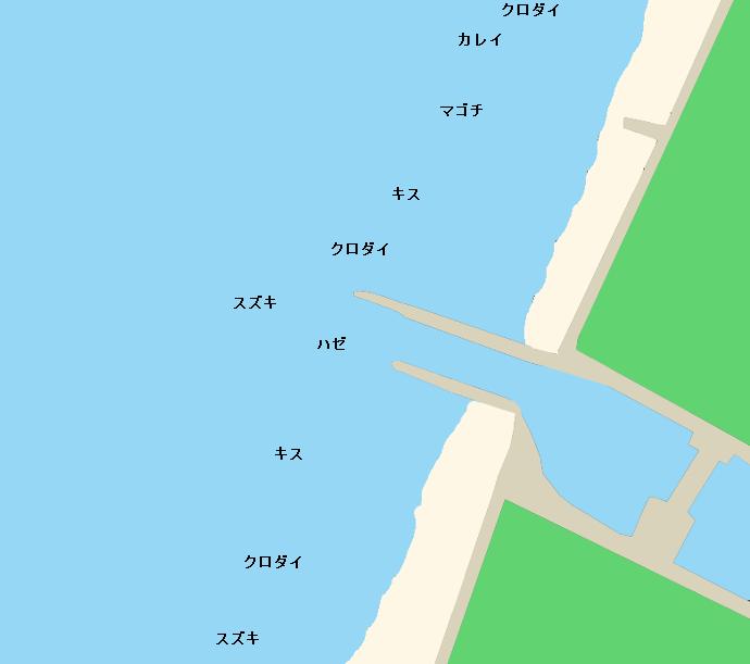 奥田海岸ポイント図