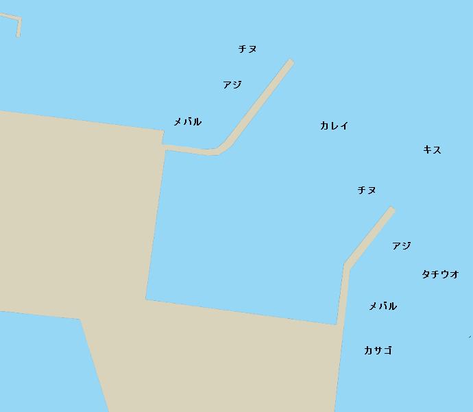 地御前漁港ポイント図