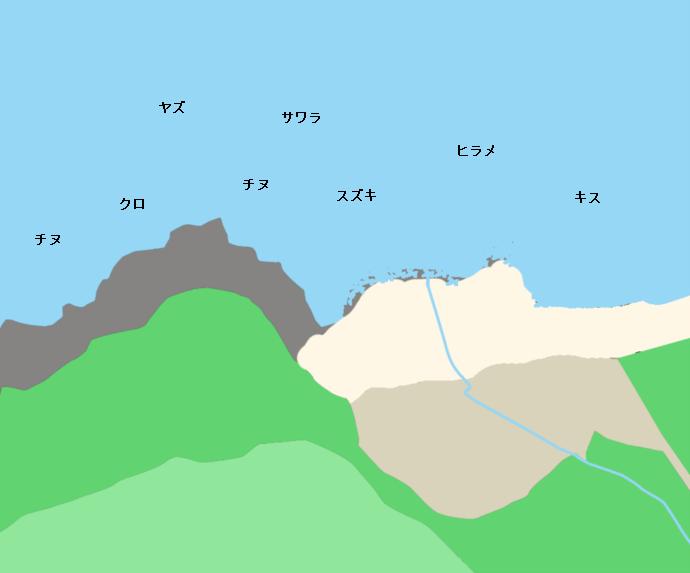 大口海岸ポイント図