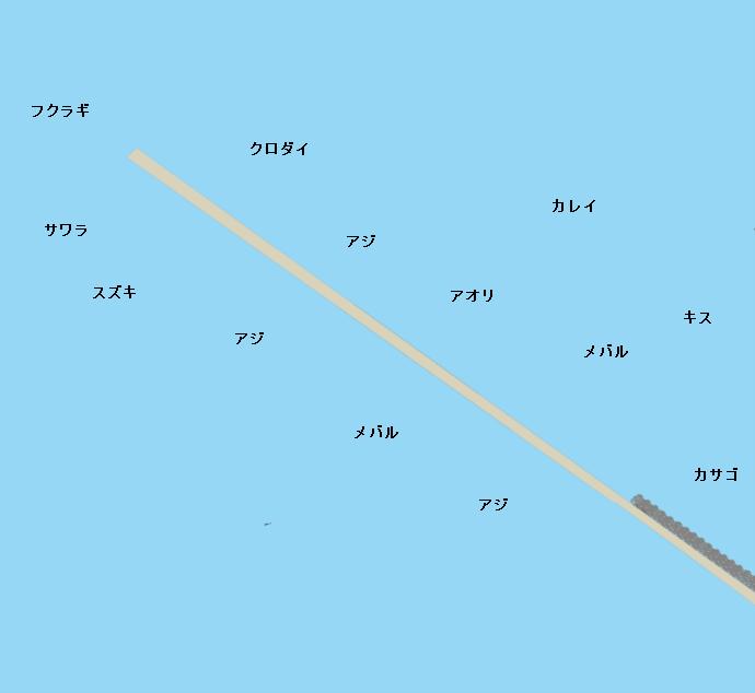 大浜釣り公園ポイント図