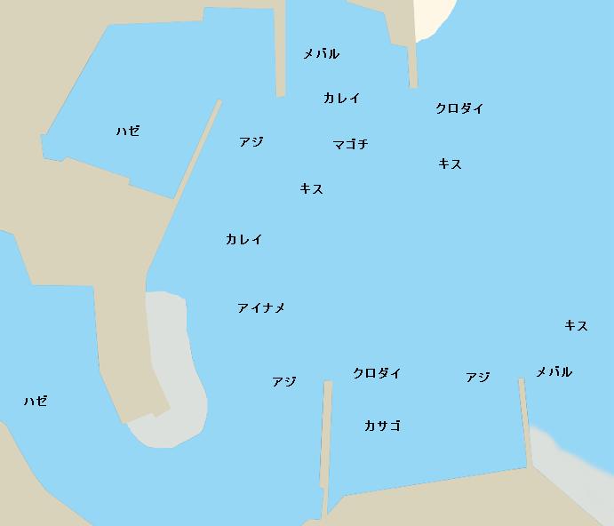 大井漁港ポイント図