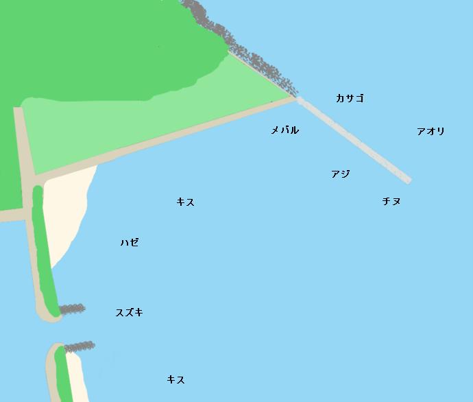 大入漁港ポイント図