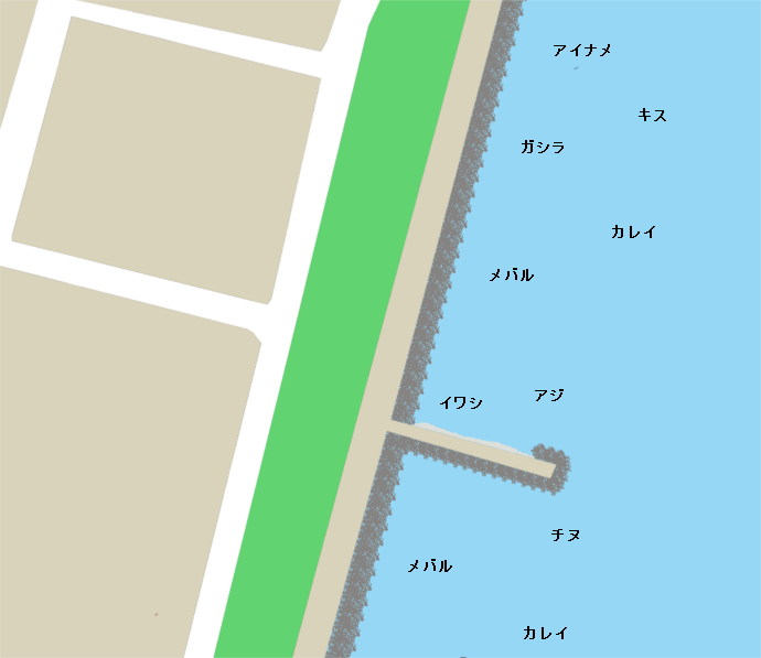 大阪ガス護岸堤ポイント図