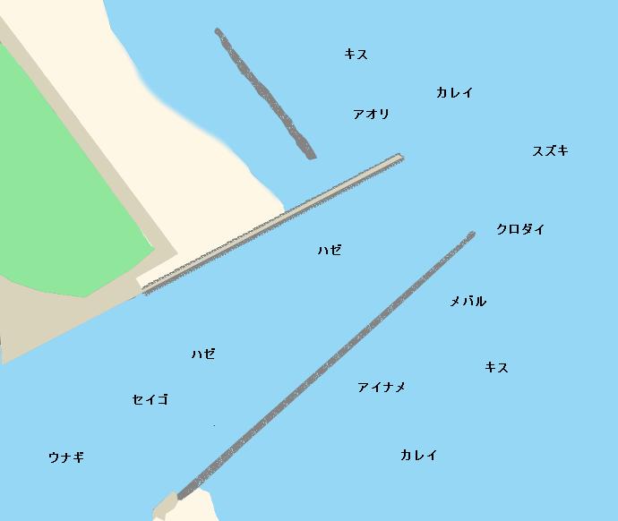 大淀漁港ポイント図