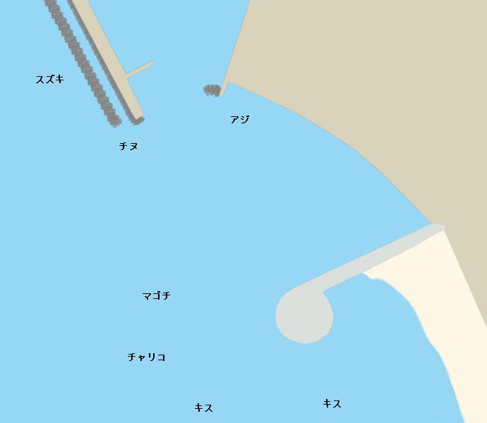 扇ヶ浜ポイント図