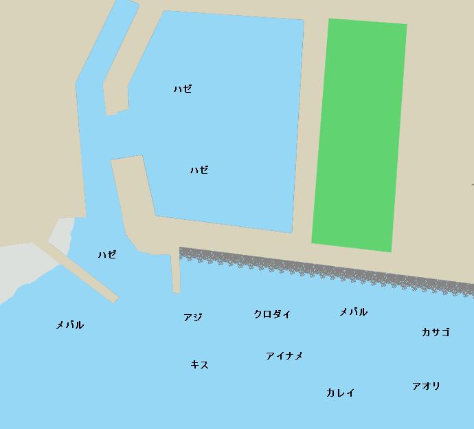 小佐漁港ポイント図