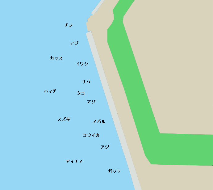 大阪南港魚つり園ポイント図