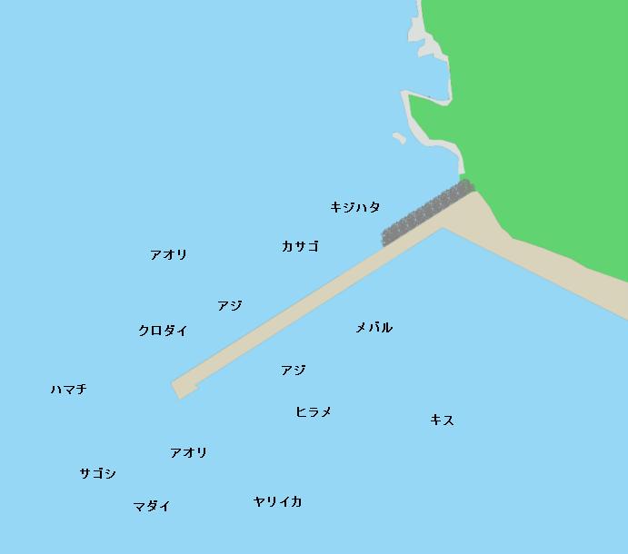 音海大波止ポイント図