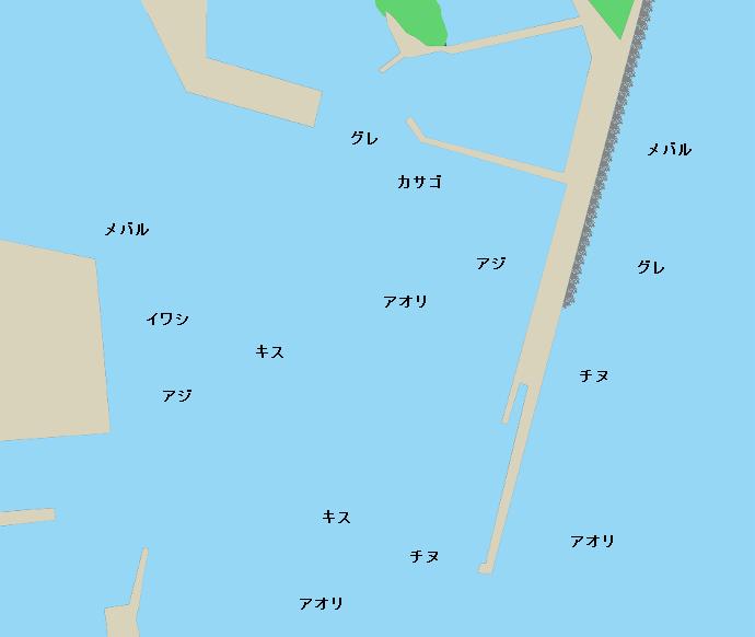 尾鷲港ポイント図
