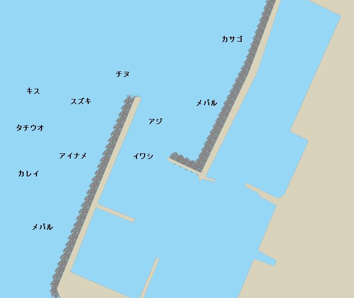 尾崎漁港ポイント図