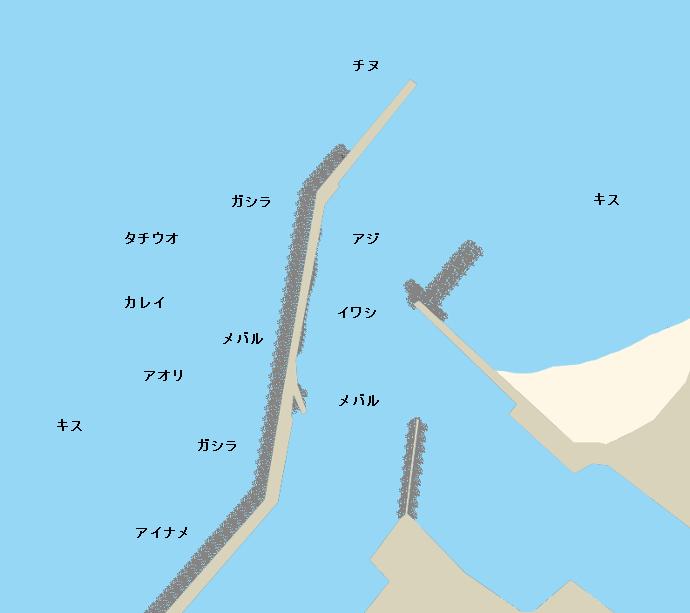 尾崎港ポイント図