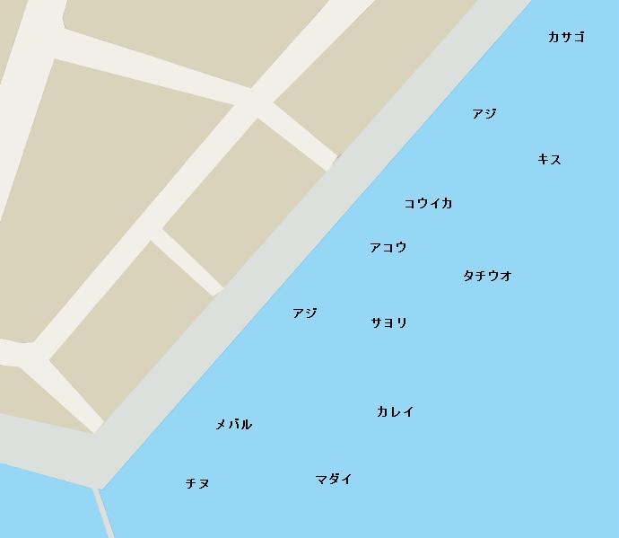 田井新港ポイント図